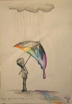 Some days feel just like this. Like a downpour of negative,  ruining the beautiful color of everything.