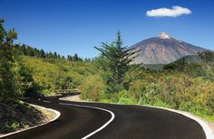 Photo about Open road on Tenerife. Winding mountain road in beautiful landscape on Tenerife showing the volcano Tiede. Image of horizontal, beautiful, panorama - 14458185 Tenerife, Ibiza, Barcelona, Destinations, Landscaping Images, Pictures Of You, Hotels And Resorts, Beautiful Landscapes, National Parks