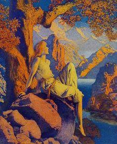 """""""Éxtasis"""", oleo de Maxfield Parrish (1870-1966, United States)"""
