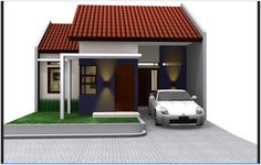 Modern minimalist house design is made with a simple and economical budget. No wonder, if the house only has a certain spaces. See modern minimalist home House Roof Design, Facade House, Type 45, Modern House Facades, Modern Minimalist House, Classic Wallpaper, Home Id, Small House Plans, Types Of Houses
