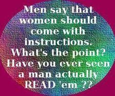 Have to confess, women don't always read them either...