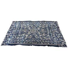 Antique Chinese Indigo Batik Panel ($325) ❤ liked on Polyvore featuring home, home decor, fabrics, indigo home decor and fabric home decor