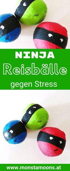 Ninja anti stress balls tinker with anti stress balls, DIY anti stress balls, ninja crafts, ninjas c Lego Ninjago, Ninjago Party, Diy Crafts To Do, Toys For Boys, Diy Crafts For Kids, Anti Stress Ball, Balle Anti Stress, Stress Relief, Rice Balls