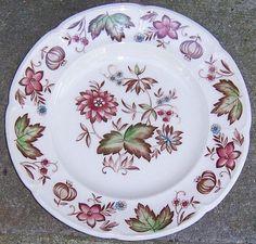 Vintage Johnson Bros China Windsor Ware Malvern Multi Colored Salad Plate