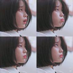 She is so sweet ☁️ Iu Short Hair, Short Hair Styles, Taeyeon Short Hair, Kpop Girl Groups, Kpop Girls, Korean Girl, Asian Girl, Iu Fashion, Korean Actresses