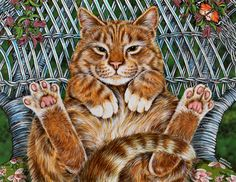 Lazy Summer Day by Marilyln Barkhouse ~ charming cats series