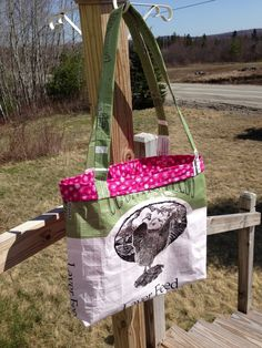 Lined Chicken Feed Tote Bag by LadybugHillFarm on Etsy, $25.00