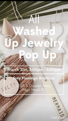 All Washed Up Jewelry   Pop Up | Hobnob