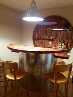 DIY Reclaimed Electrical Spool (cable reel) Bar! - by Jonathan Lassiter