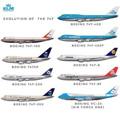 The queens of the sky✈ there are other special variants but I just chose the main ones✈ . Boeing Planes, Boeing 747 8, Boeing Aircraft, Passenger Aircraft, 747 Airplane, Aircraft Propeller, Korean Air, Best Airlines, Commercial Aircraft