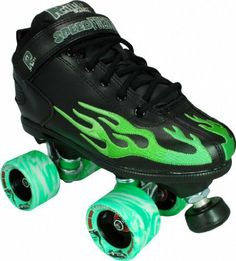Rock Speed Freaks Flame Skate Black & Green with Twister Wheels by Sure-Grip. $139.00. Rock Speed Freaks Flame Skate Black & Green with Twister Wheels - Rock's indoor low cut speed roller skates with flames featuring super speedy Sure-grip Twister wheels in 62mm X 96A. Cute and rockin'. - SIZING: These skates come in Men's sizes only. Ladies, please select one size down from your normal shoe size for the equivalent fit. For example; A Men's 7 equals a Ladies 8. Remembe...