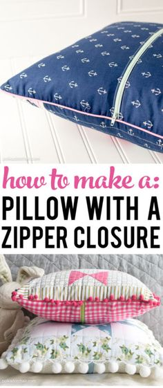 My absolute favorite way to close the back of a pillow after I've sewn it, is to use a zipper. It's so crazy easy to do that you won't believe it! Creating pillows with zippered backs also allows you...