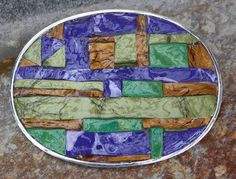 Oldie but goodie...  great mosaic belt buckle by TB Greene sold to an old neighbor (hi Lori!)  still love the colors and random pattern on this one