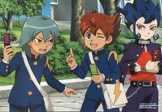 Aitor Cazador, Arion y Victor Blade Inazuma Eleven Go