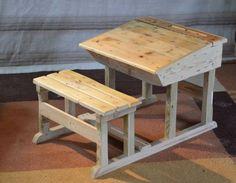 Pupitre D'Enfant / Pallet Children Desk Desks & Tables Fun Crafts for Kids