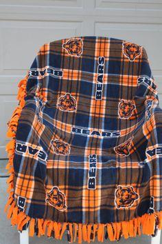Chicago Bears Fleece Blanket/ Throw/ Lap Quilt/Baby by GrannyRRRR, $28.95