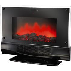 Electric fireplace heater Wall-mountable or floor-standing