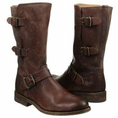 Women's Frye Jayden Moto Cuff Dark Brown Antique Shoes.com