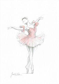 Ballerina Art by Ewa Gawlik __[Via Etsy by EwArtStudio]