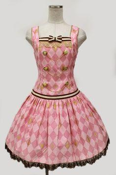 画像1: Angelic Pretty / Chess Chocolate ローウエストジャンパースカート