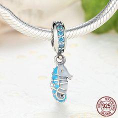 Cavalluccio marino, Tropical Seahorse Charm Bead, 100% argento sterling 925 adatta a misure Pandora charm, beads e braccialetto europeo S232 di OceanBijoux su Etsy