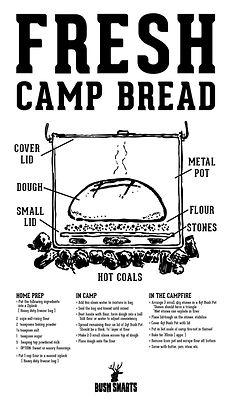 How we make camp bread using a light weight aluminum pot.