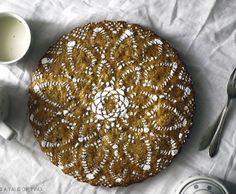 Un motif sur une tarte aux carottes – - DESIGN MAROC - La création et la décoration du Maroc, d'Algérie, de Tunisie... du grand Maghreb et d'ailleurs