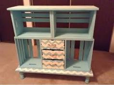 : Chevron crate shelf-DIY The Effective Pictures We Offer You About Diy Wood Crate shelves A qualit Home Diy, Diy Shelves, Crate Nightstand, Wooden Diy, Bookshelves Diy, Diy Furniture, Crate Shelves Diy, Diy Decor, Crates