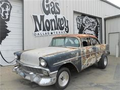 1956 Chevy Bel Air Blue II Historic Vintage Local Drag Race Chassis offered with NO RESERVE by Gas Monkey Garage!