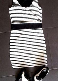 Kaufe meinen Artikel bei #Kleiderkreisel http://www.kleiderkreisel.de/damenmode/kurze-kleider/103832694-wunderschones-kleid-neu-36-34-s-xs-schwarz-weiss-sommer-bleistift