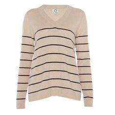Striped A-Line V Neck £150