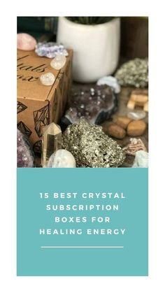We've curated a list of our favorite crystal subscription boxes that deliver monthly packages full of goodies for hollistic healing, spiritual practic and mindfulness. Subscription Boxes, Goodies, Healing, Place Card Holders, Crystals, Spirituality, Age, Medium, Food