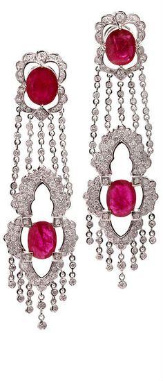Ruby/ Diamond Earrings