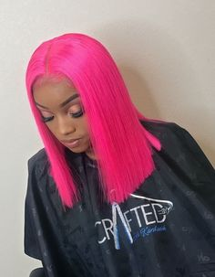 Lace Frontal Wigs Pink Hair Baby Pink Wig Real Hair For Women – wigbaba Weave Hairstyles, Girl Hairstyles, Gorgeous Hairstyles, Curly Hair Styles, Natural Hair Styles, Blonde With Pink, Ash Blonde, Blonde Hair, Pink Wig