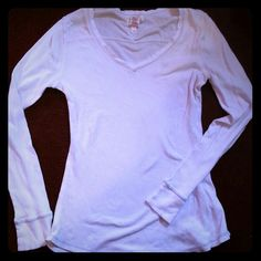 Long sleeve basic tee White, ribbed long sleeve. 96% organic cotton OP Tops Tees - Long Sleeve