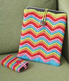 Ravelry: Rainbow Stripes Mobile Phone Cover pattern by Lily / Sugar'n Cream