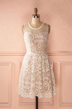 Aphria Jour - Cream cocktail lace dress