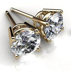 1bc856e380b3 Ebay On Special Sale Solid 14K Gold Stud 4.00 ct Diamond Earrings VVS1 D