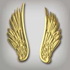 18k gold on sterling silver angel wings for $74