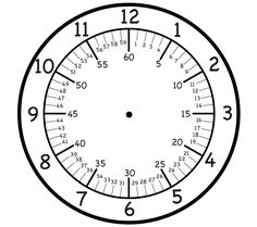 This is a printable clock face showing hours, minutes by 5 and minutes by There are 2 hands to attach to the clock and say minute hand and hour hand. This should be printed on heavy card stock and laminated for extended use. Teaching Clock, Teaching Time, Teaching Math, Clock Worksheets, Printable Worksheets, Free Printable, Number Worksheets, Alphabet Worksheets, Printables
