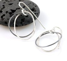 Night and Day Earrings  Argentium Sterling Silver by BethCyr