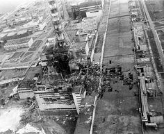 Aerial view of Chernobyl.