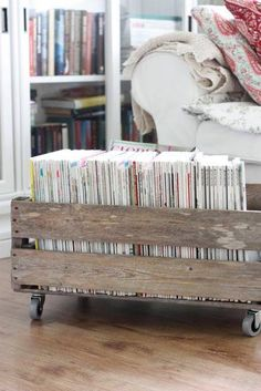 How to store magazines. 38 ways to creatively display your magazines. Showcase your reads in a stack as a bedside table, use a ladder-like…