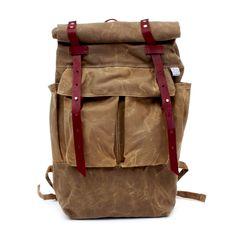 Sketchbook Tan Waxed Canvas Camper Backpack