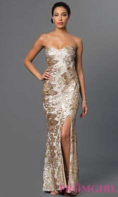 Sequin-Embellished Floor-Length Marina Dress