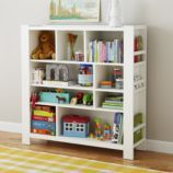 great bookshelf. holds a ton. especially good for oversized books and flappy books/magazines on the outside