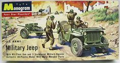 Monogram 1/35 US Army Military Jeep and M3-37mm Gun - Four Star Issue, PM21-98 plastic model kit