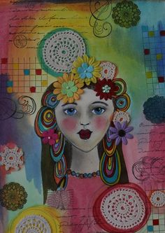 art journals or could do zentangles as the hair on a self portrait!
