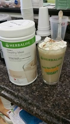 Love my Cinnamon Dulce de leche Herbalife shake! 2 Scoops Formula 1 Healthy Meal Dulce de Leche 2 Scoops Vanilla Protein Drink Mix 8 ounces water 1/2 cup ice Couple shakes of cinnamon Blend and add a bit of whipped cream if you like with another couple shakes of cinnamon Contact me for your ingredients! www.goherbalife.com/fulloflife87