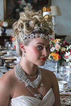Model: Francesca  Dress: Ian Stuart  Hair: Tuc Le Rojas  Acc: Tantrums & Tiaras  Flowers: Love From Katie    Just Gorgeous Hair